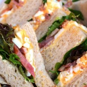 Egg, Bacon & Mayo Sandwiches